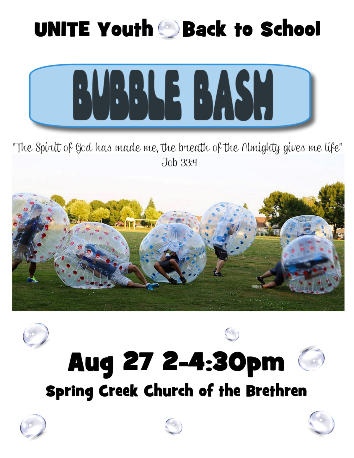 UNITE Youth Back-to-school Bubble Bash