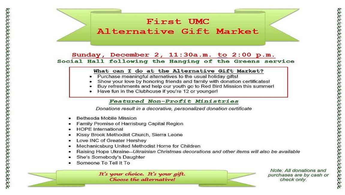 First UMC Alternative Gift Market